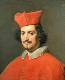 Portrait von Kardinal Camillo Astali Pamphili von Diego Rodriguez de Silva y Velazquez
