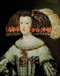 Portrait der Königin Maria Anna von Spanien von Diego Rodriguez de Silva y Velazquez