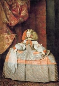 The Infanta Maria Marguerita in Pink by Diego Rodriguez de Silva y Velazquez