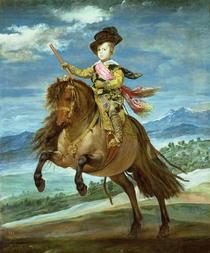 Prinz Balthasar Carlos reitend von Diego Rodriguez de Silva y Velazquez