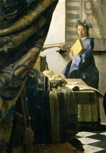 The Artist`s Studio by Jan Vermeer