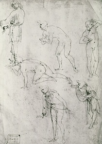Six Figures, Study for an Epiphany by Leonardo Da Vinci