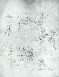 Study of figures for `The Adoration of the Magi` by Leonardo Da Vinci