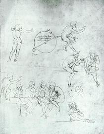 Studie zur Anbetung der heiligen drei Könige von Leonardo Da Vinci