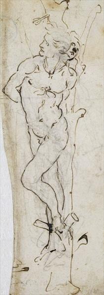 Studie des heiligen Sebastian von Leonardo Da Vinci