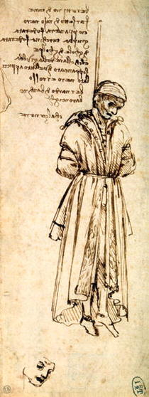 Study of the Hanged Bernardo di Bandino Baroncelli, assassin of  by Leonardo Da Vinci