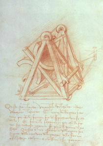 Study of the Wooden Framework with Casting Mould for the Sforza  by Leonardo Da Vinci