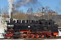 Maschine 99 786 im Bahnhof Kurort Oberwiesenthal  von Karsten Müller