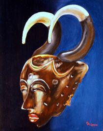 Afrikanische Maske von Marie-Ange Lysens