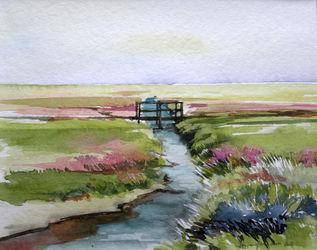 Malen-am-meer-strandflieder-aquarell