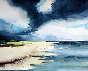 Malen-am-meer-strand-aquarell