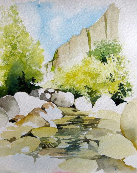 Malen-am-meer-steinbruch-aquarell