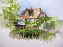 Reetdachhaus auf Hooge in Nordfriesland von Sonja Jannichsen