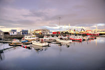 The harbour at Reykjavik by Rob Hawkins