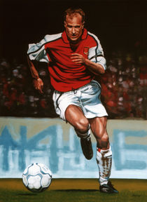 Dennis Bergkamp painting by Paul Meijering
