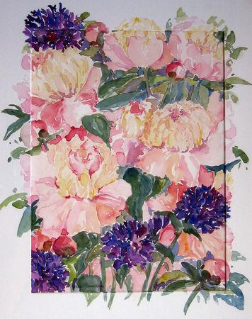 Malen-am-meer-peonie-rosa-aquarell