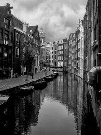Amsterdam Canal BW by Heather Applegate