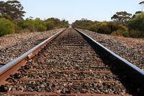Railway track outback Australia by Jörg Sobottka