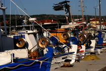 Greek fishing boats  by Jörg Sobottka