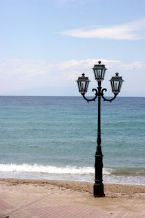 Lamp at beach - Chalkidiki - Greece von Jörg Sobottka