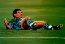 Diego Maradona painting by Paul Meijering