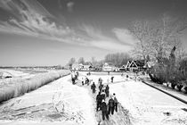 Ice skating in the countryside from the Netherlands by nilaya