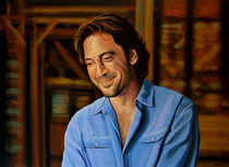 Javier Bardem painting by Paul Meijering
