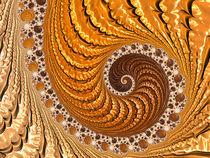 Spirale in gold und braun by Matthias Hauser