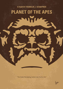 No270 My PLANET OF THE APES minimal movie poster von chungkong