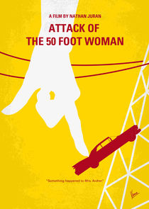 No276 My Attack of the 50 Foot Woman minimal movie poster von chungkong