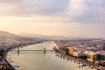 Danube Sunset von Patrycja Polechonska