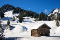 Hütte im Kleinwalsertal bei Baad Österreich im Winter von Matthias Hauser