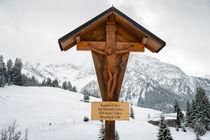 Flurkreuz Wegkreuz Feldkreuz Kruzifix in den Alpen von Matthias Hauser
