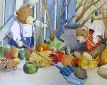 Teddybären im Garten by Sonja Jannichsen