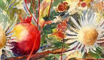 Distel mit Granatapfel by Sonja Jannichsen