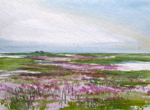 Malen-am-meer-strandflieder-aqurarellmalerei