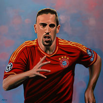 Franck Ribery painting by Paul Meijering