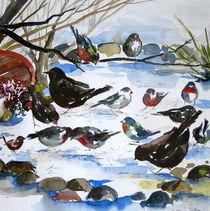 Vögel im Schnee von Sonja Jannichsen