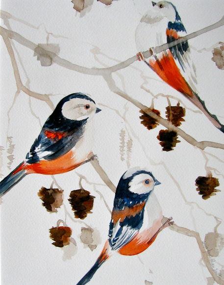 Malen-am-meer-langschwanzmeisen-voegel-aquarell