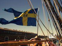 Götheborg Sailing Boat - Flag by André  Pillay