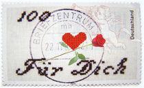 100 Herzen Briefmarke von Helene Souza