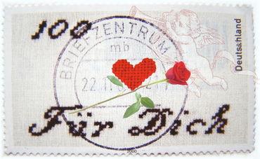 Valentinstag-marke-herz