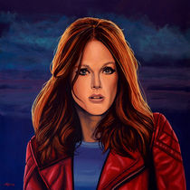 Julianne Moore painting von Paul Meijering