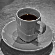 Arabic Coffee at Asha Black and White Photograph von Jim Plaxco
