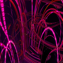 Neon Nights Abstract Lights Left Square von Jim Plaxco