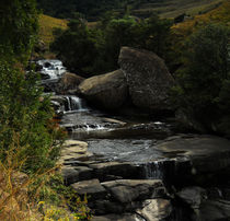 Waterfall on the Drakensberg Mountain Range by Amy Harmse