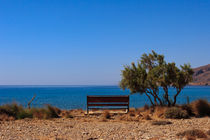 Bench at coast - Crete - Greece by Jörg Sobottka