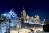 Szczecin at night. by Krzysztof Adamin