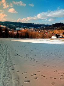 Winterpanorama mit Wolken | Landschaftsfotografie by Patrick Jobst