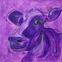 """the mauve cow """"Klara"""" by Annett Tropschug"""